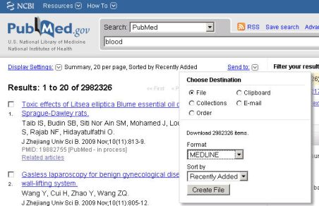 Reference Manager: Download and Import references from