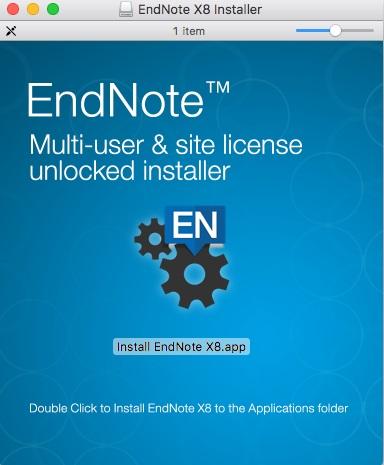 EndNote: Volume License Install Steps